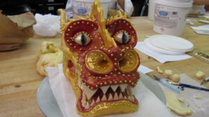 As seen on Cake Boss - the dragon cake.